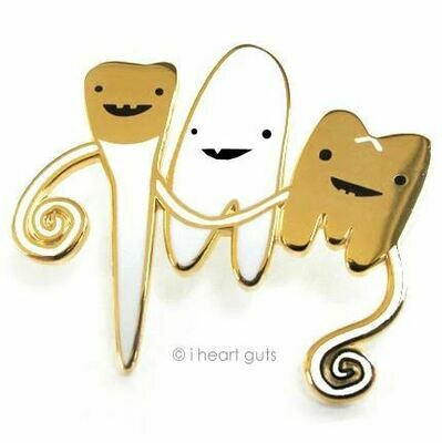 Teeth Lapel Pin - Flossin' Ain't Just For Gangstas