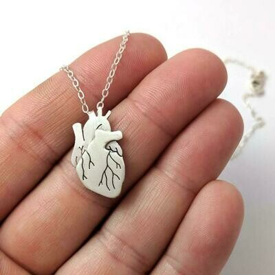 Anatomical Element Heart Necklace