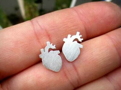 Anatomical Element Heart Earrings