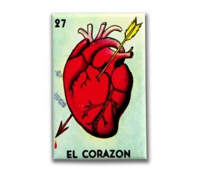 El Corazon Loteria Magnet