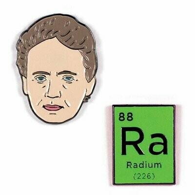 Marie Curie & Radium Pins