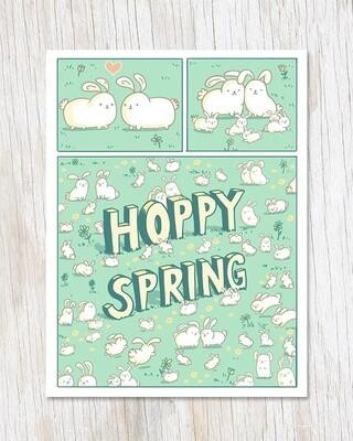 Hoppy Spring Card