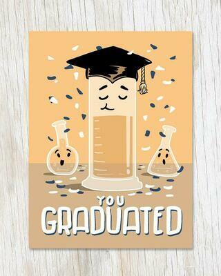 You Graduated! (Grad Cylinder) Card