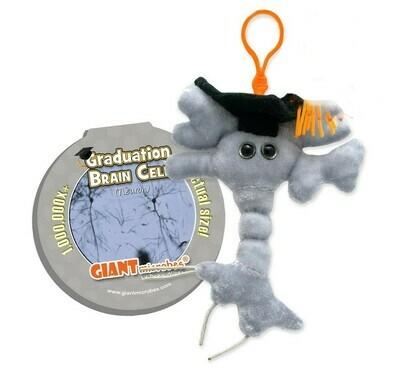 Graduation Brain Cell Keychain