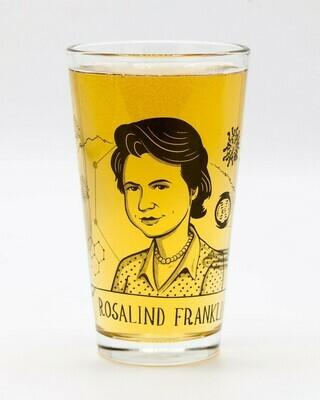 Rosalind Franklin Pint Glass