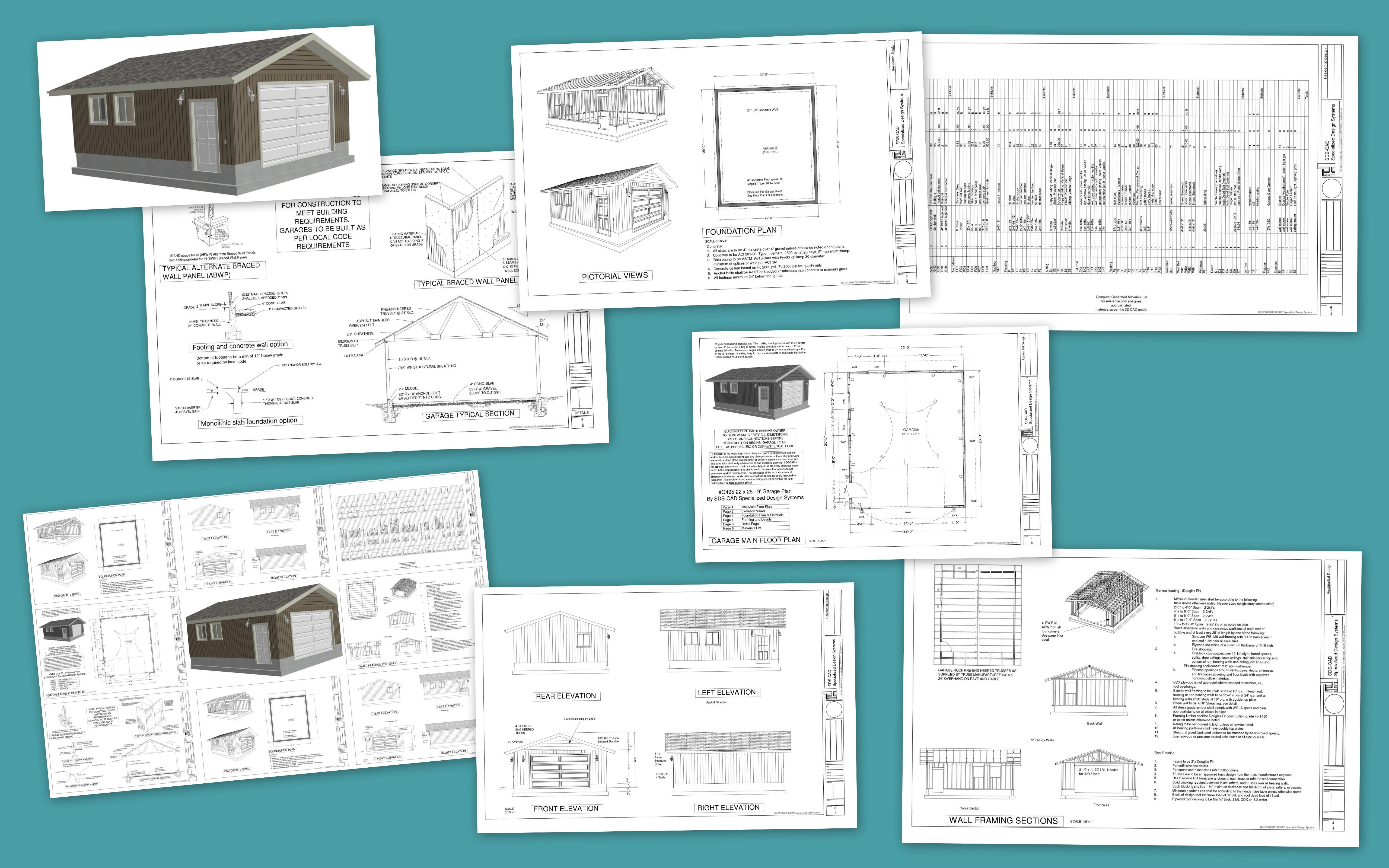 G495 Garage Plans
