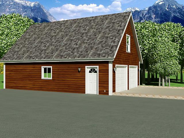 G196 26\' x 36\' Garage With Loft PDF files
