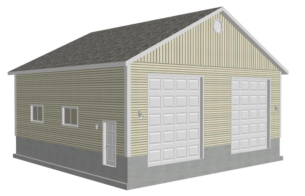 FREE Garage Plans – 40X40 Garage Plans