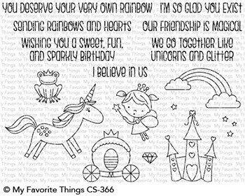 My favorite things RAINBOW & UNICORNS Clear Stamp Set