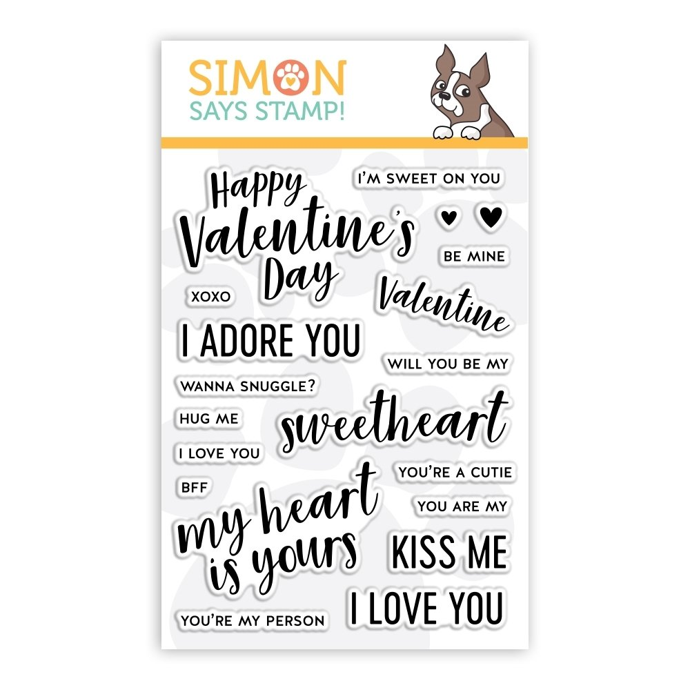 Simon Says Stamp LOVE NOTES Clear Stamp