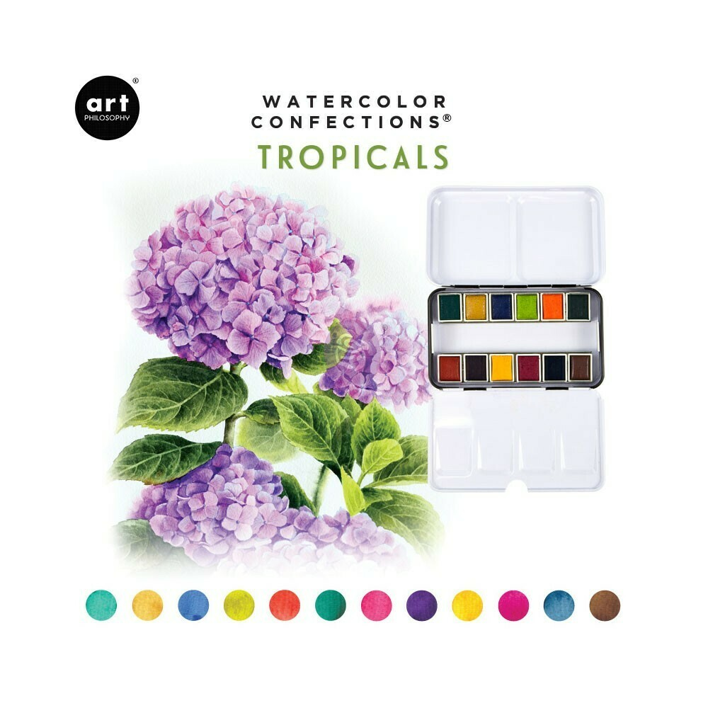 Prima Marketing TROPICALS Watercolor Confections Pans in Box