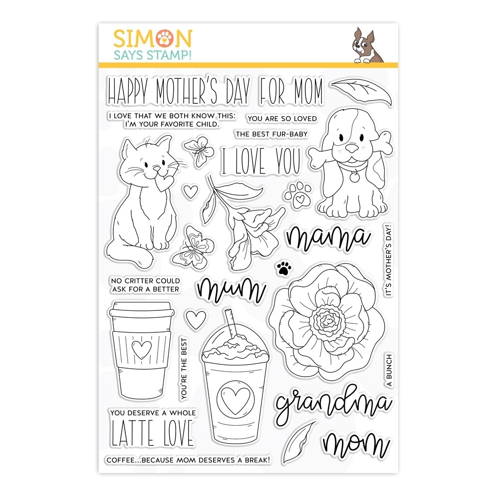 Simon Says Stamp FOR ALL MOMS Clear Stamp Set