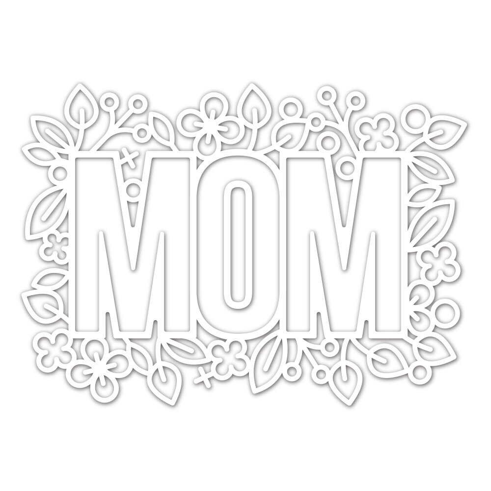 Simon Says Stamp OUTLINE FLORAL MOM Die