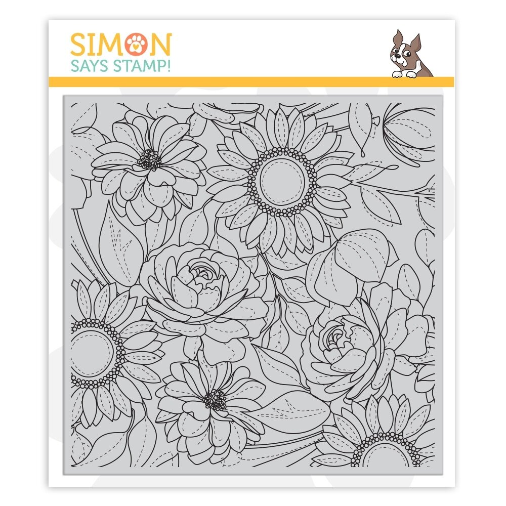 Simon Says Stamp FLORAL MIX Cling Rubber Stamp Set