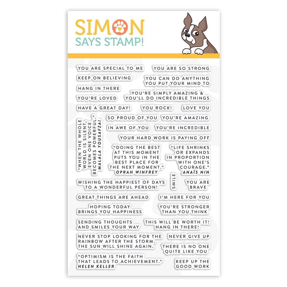Simon Says Stamp TINY WORDS ENCOURAGEMENT Clear Stamp Set