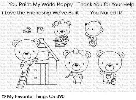 My Favorite Things BUILDER BEARS Clear Stamp Set