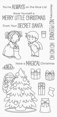 My Favorite Things SECRET SANTA Clear Stamp Set