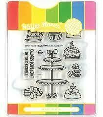 Waffle Flower SWEET TREAT Clear Stamp Set