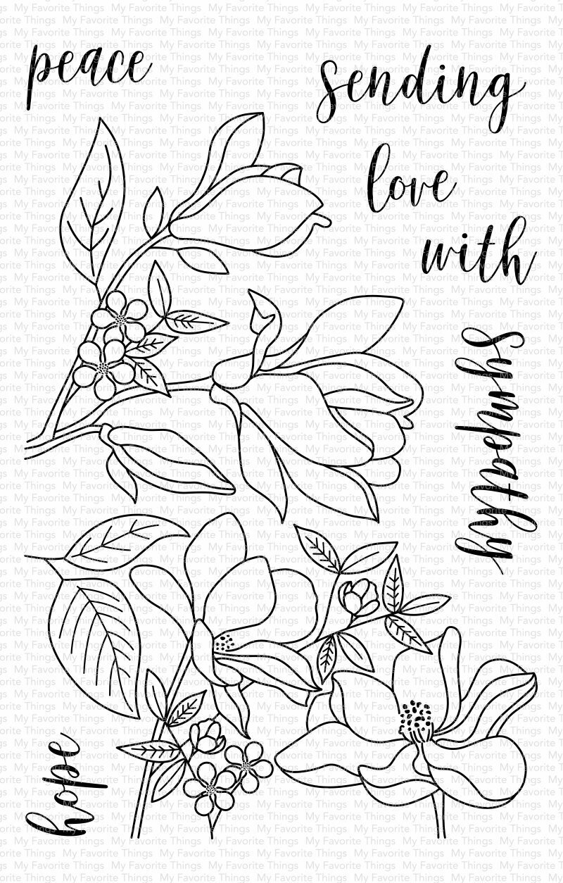 My Favorite Things FLORAL FOCUS Clear Stamp Set