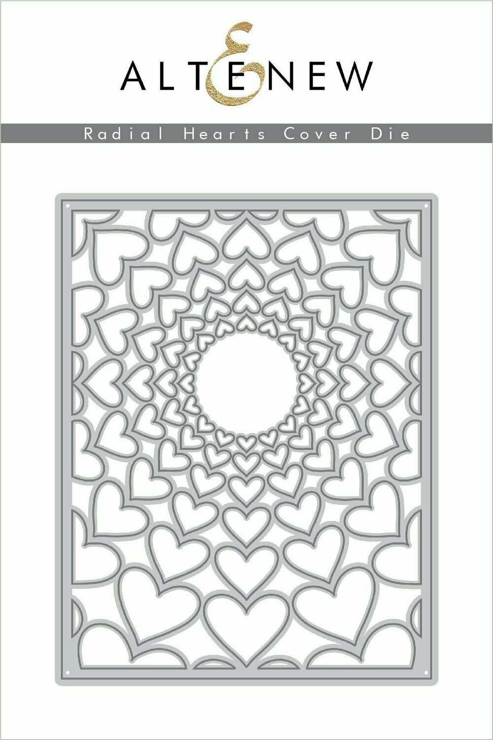 Altenew RADIAL HEARTS COVER Die
