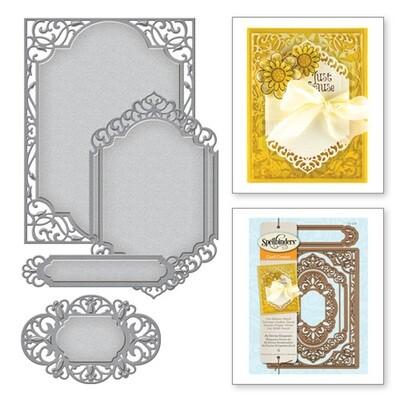 Spellbinders A2 Divine Eloquence Card Creator  Die Set