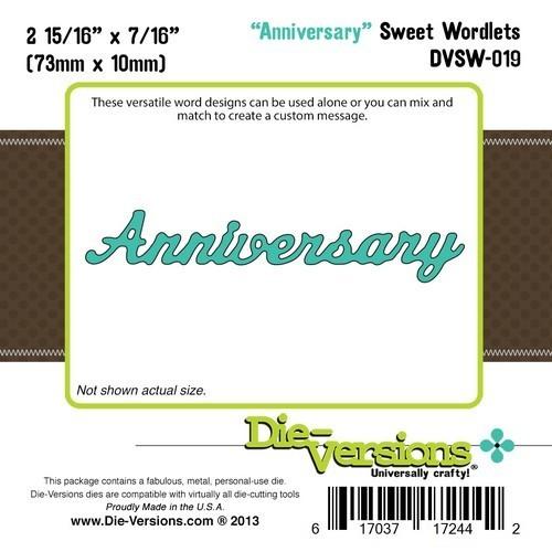 Die-Versions ANNIVERSARY Sweet Wordlets Die