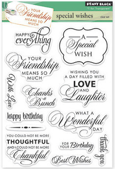Penny Black SPECIAL WISHES Clear Stamp Set