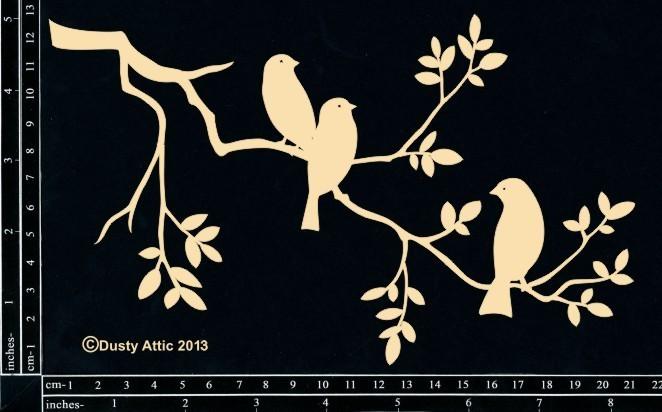 Dusty Attic BIRDS ON A BRANCH #3 Lasercut Designs