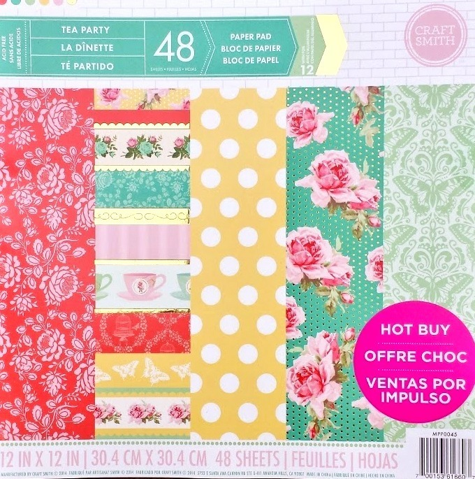 Craft Smith TEA PARTY Specialty Pattern Paper Pad 12x12