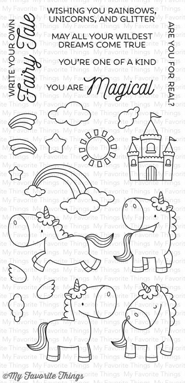 My Favorite Things MAGICAL UNICORNS Clear Stamp Set