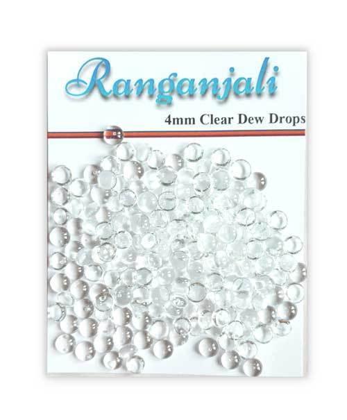 Ranganjali Small CLEAR DEW DROPS 200 (4mm)