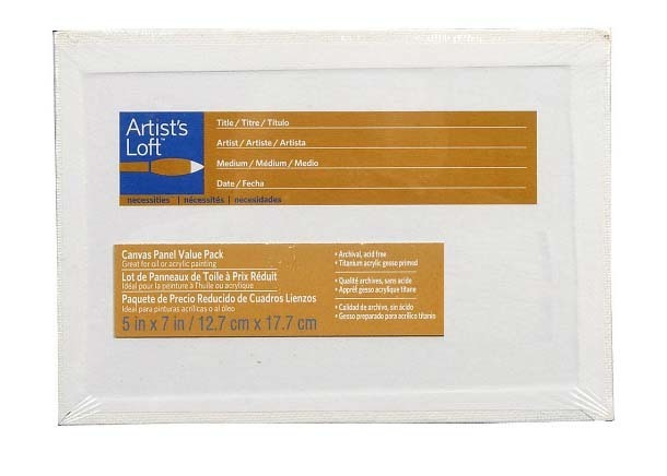 Artst's Loaf CANVAS PANEL 5x7in