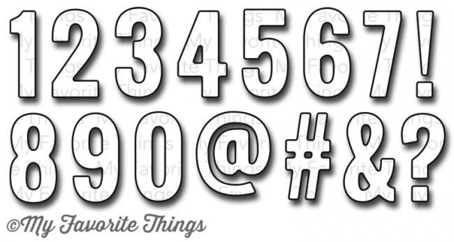 My Favorite Things LITTLE NUMBERS Die-namics Die