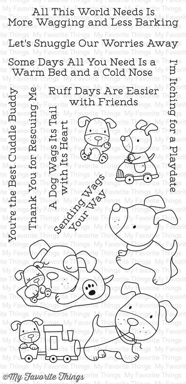 My Favorite Things PLAYFUL PUPS Clear Stamp Set