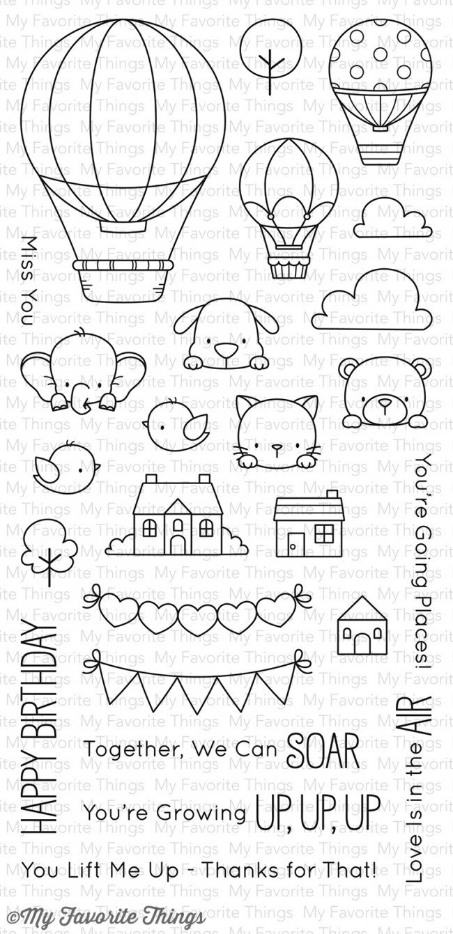 My Favorite Things UP IN THE AIR Clear Stamp Set