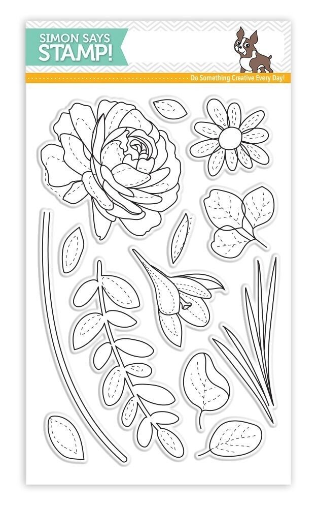 Simon Says Stamp MORE SPRING FLOWERS Clear Stamp Set