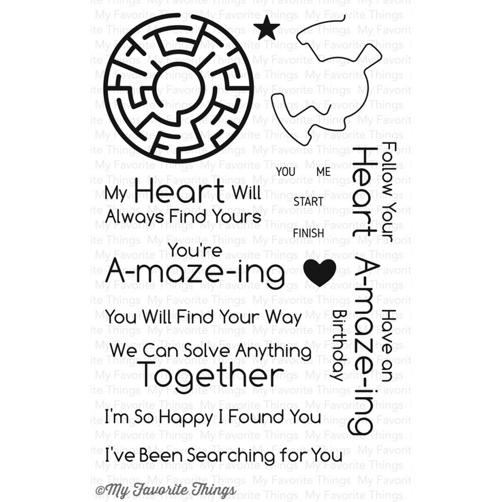 My Favorite Things YOU'RE A-MAZE-ING Clear Stamp Set