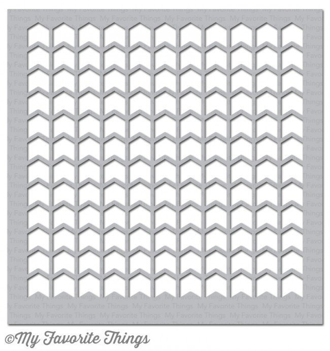 My Favorite Things CHEVRON GRID Stencil