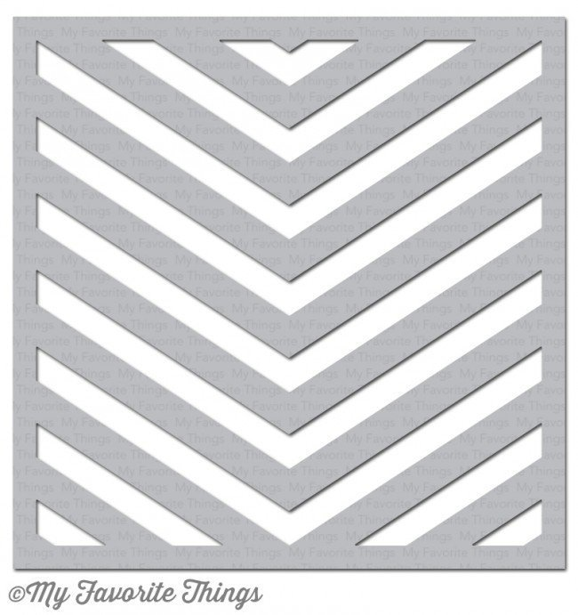 My Favorite Things ONE WAY CHEVRON Stencil