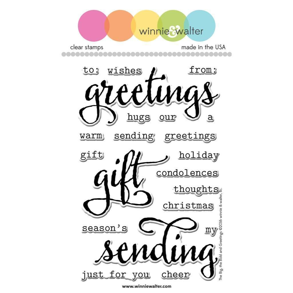 Winnie & Walter THE BIG THE BOLD AND GREETINGS Clear Stamp Set