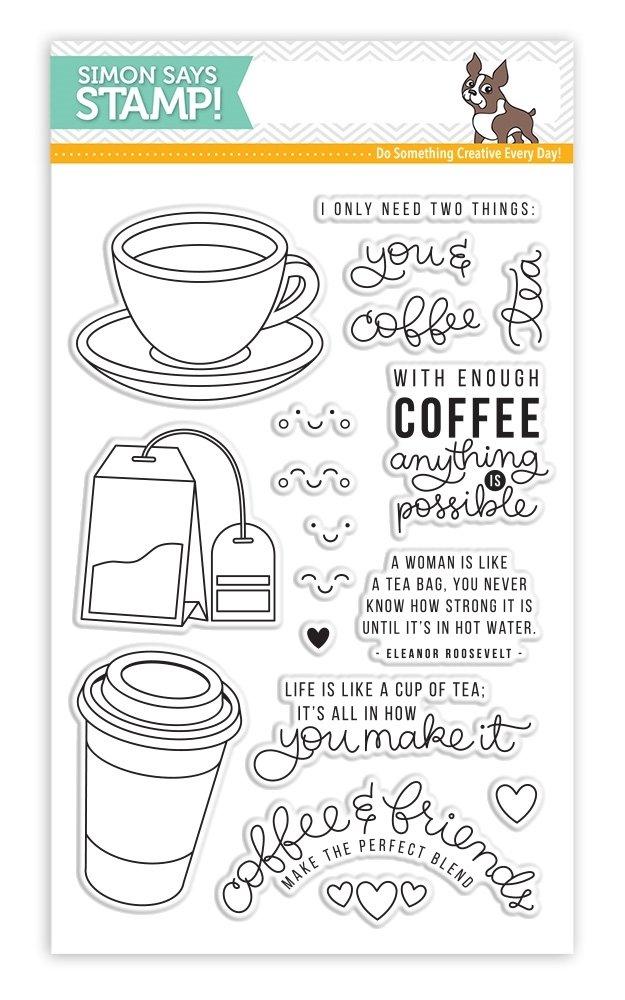 Simon Says Stamps COFFEE AND TEA Clear Stamp Set