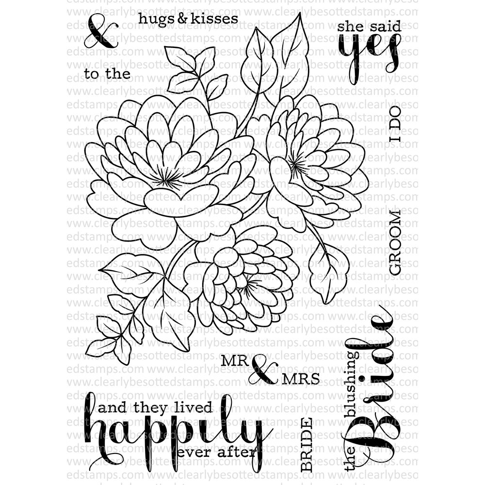 Clearly Besotted HAPPILY EVER AFTER Clear Stamp Set
