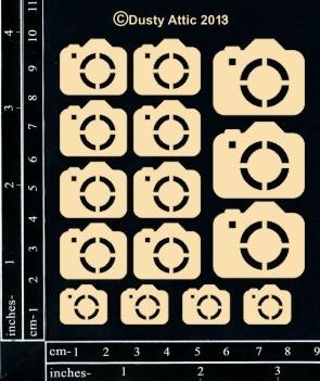 Dusty Attic MINI CAMERAS Lasercut Designs