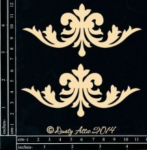 Dusty Attic FLOURISH #7 Lasercut Designs