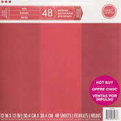 Craft Smith RED Specialty Pattern Paper Pad 12x12
