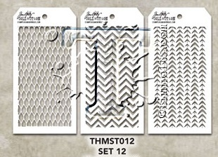Tim Holtz MINI STENCIL SET 12