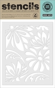 Hero Arts LARGE LOTUS PATTERN Stencil