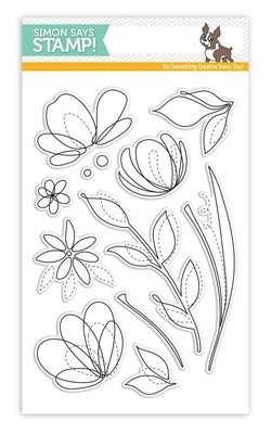 Simon Says Stamps SPRING FLOWERS Clear Stamp Set