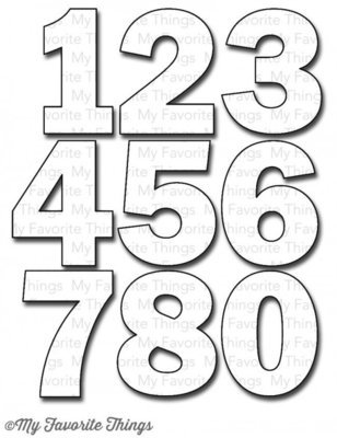 My Favorite Things BY THE NUMBERS Die-namics Die Set