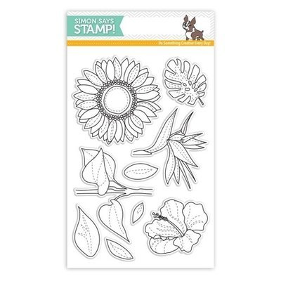 Simon Says Stamp  SUMMER FLOWERS Clear Stamp Set